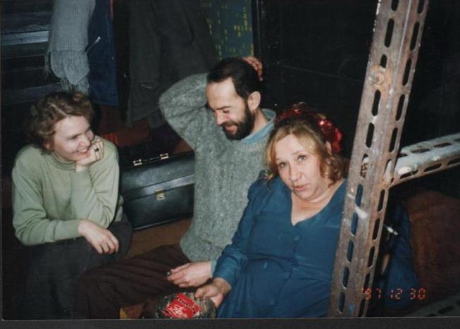 Борзунова С.А. с коллегами журналистами Федотовой О.Ф. и Илюшиным В.В. 1997 г.