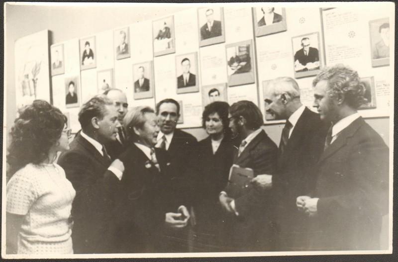 Участники совещания литераторов Дальнего Востока. В центре – Побожий А.А., СССР, г. Благовещенск